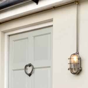 jim lawrence, outdoor lighting, conduit, conduit kit, industrial lighting, outdoor bulb, antiqued brass