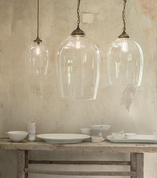 Domed Glass Pendant Lights