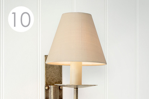Oyster Silk Candle Shade for Wall Lighting Jim Lawrence