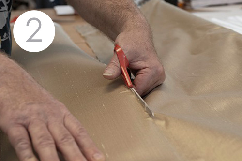 Jim Lawrence hand cut fabrics lengths